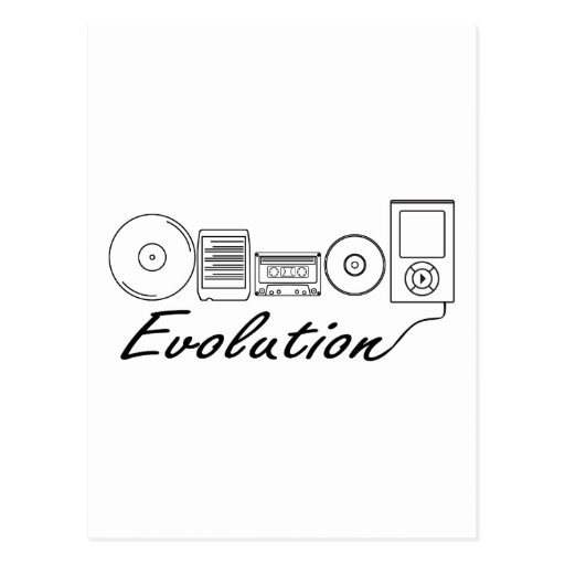 Evolution of Music Post Card
