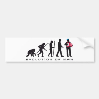 evolution OF one accordion more player sailor Bumper Sticker