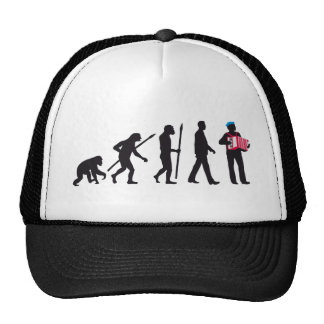 evolution OF one accordion more player sailor Mesh Hat