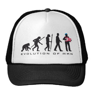 evolution OF one accordion more player sailor Mesh Hats
