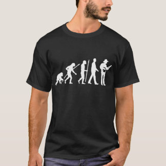 evolution OF one banjo more player T-Shirt