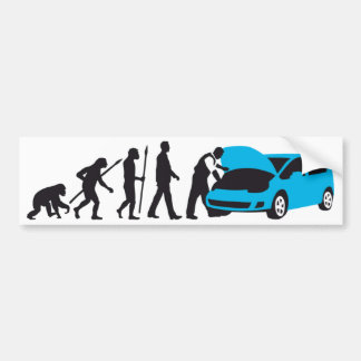 evolution OF one car car mechanic Bumper Sticker
