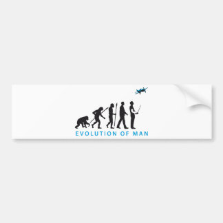 evolution OF one controling model airplane Bumper Sticker