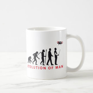 evolution OF one controlling drone Basic White Mug