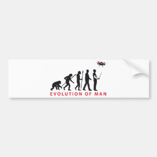 evolution OF one controlling drone Bumper Sticker