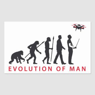 evolution OF one controlling drone Rectangular Sticker