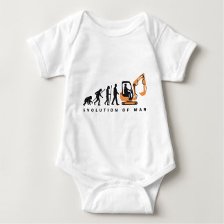evolution OF one excavator more driver Baby Bodysuit