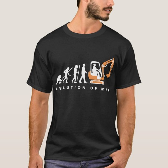 evolution OF one excavator more driver T-Shirt