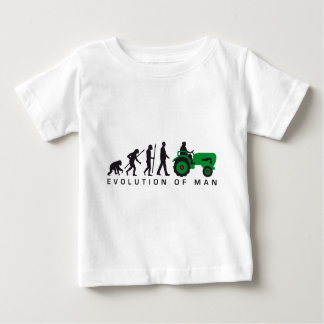evolution OF one far MER with tractor Baby T-Shirt