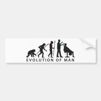 evolution OF one hair stylist Bumper Sticker