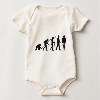 evolution OF one marching bound drums, trombone Baby Bodysuit