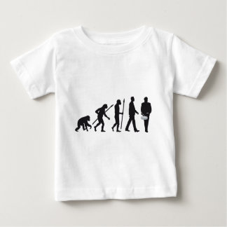 evolution OF one marching bound drums, trombone Baby T-Shirt