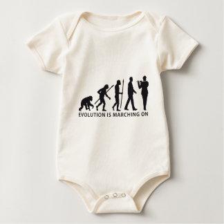 evolution OF one marching bound floods timpani Baby Bodysuit