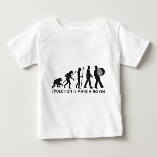 evolution OF one marching bound floods timpani Baby T-Shirt