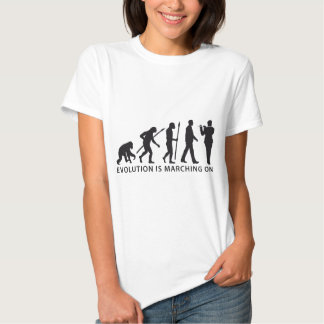 evolution OF one marching bound floods timpani T-shirts