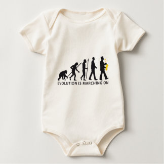 evolution OF one marching bound saxophones more Baby Bodysuit