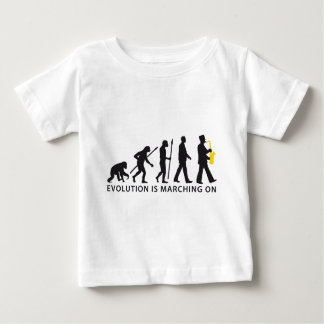 evolution OF one marching bound saxophones more Baby T-Shirt
