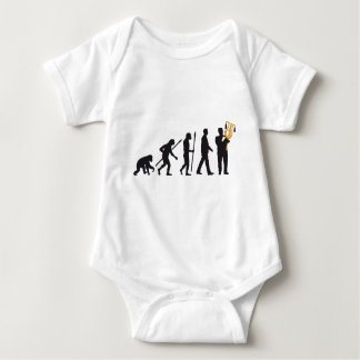 evolution OF one marching bound xylophone more pla Baby Bodysuit