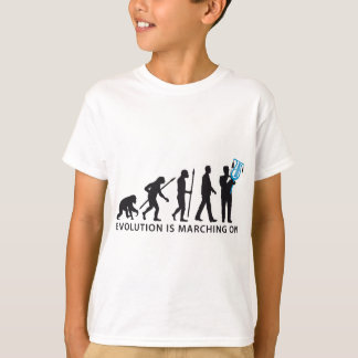 evolution OF one marching bound xylophone more T-Shirt