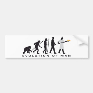 evolution OF one more baker Bumper Stickers