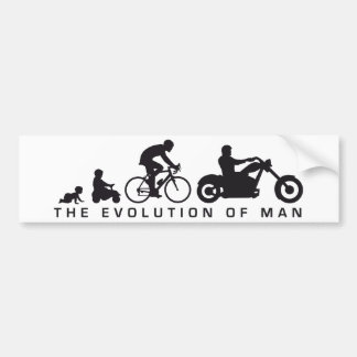 evolution OF one motorcycle more biker Bumper Sticker