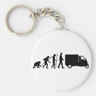 Evolution OF one Piaggio Ape mini transporter Basic Round Button Key Ring