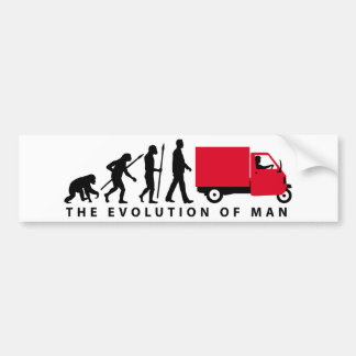Evolution OF one Piaggio Ape mini transporter Bumper Sticker