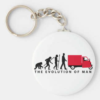 Evolution OF one Piaggio Ape mini transporter Key Ring