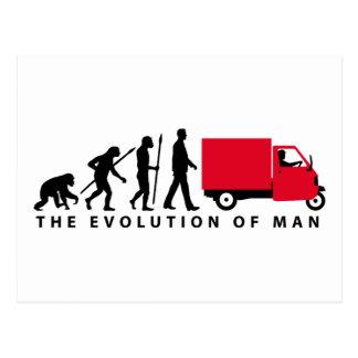 Evolution OF one Piaggio Ape mini transporter Postcard