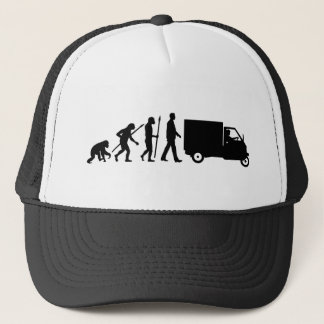 Evolution OF one Piaggio Ape mini transporter Trucker Hat