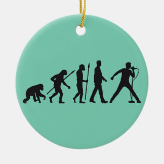 evolution OF one rock metal more singer Christmas Ornament