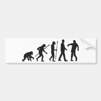 evolution OF one zombie walking DEAD Bumper Sticker