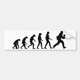 Evolution of Paintball Bumper Sticker