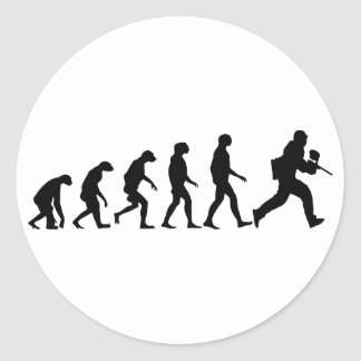 Evolution of Paintball Classic Round Sticker