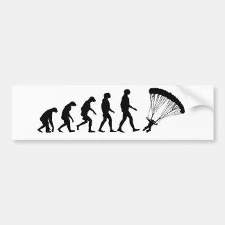 Evolution of Parachuting Bumper Sticker
