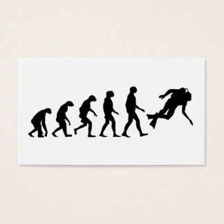 Evolution of Scuba Diving Business Card