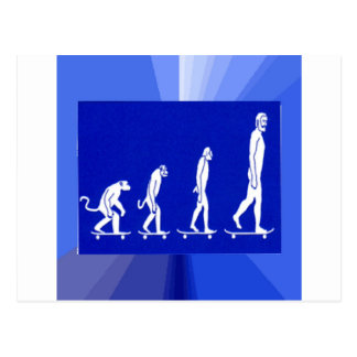 EVOLUTION OF SKATEBOARDING POSTCARD