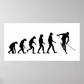 Evolution of Ski Poster