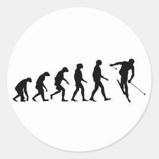 Evolution of Ski Classic Round Sticker