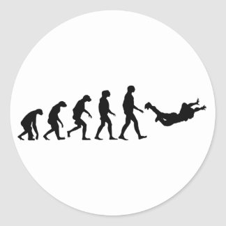 Evolution of Skydiving Classic Round Sticker