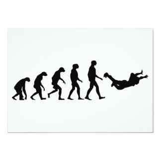 Evolution of Skydiving Invitations