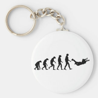 Evolution of Skydiving Key Ring