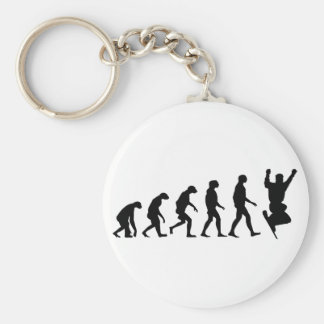 Evolution of Snowboarding Basic Round Button Key Ring