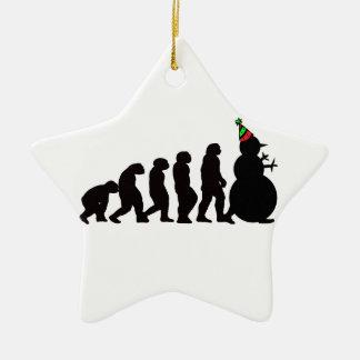 Evolution of Snowman Ornament