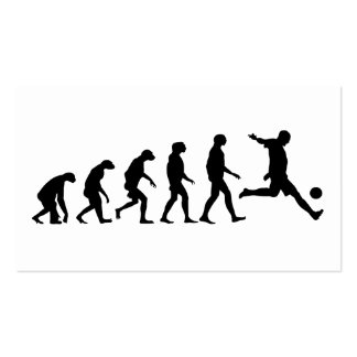 Evolution of Soccer Double-Sided Standard Business Cards (Pack Of 100)