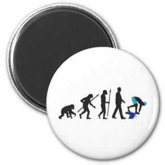 evolution of swimmer on start block 6 cm round magnet