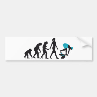 evolution of swimmer on start block bumper sticker