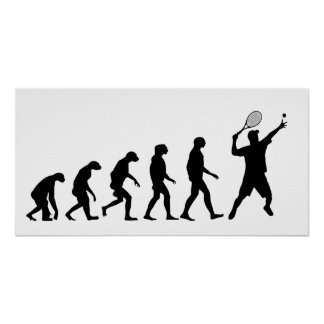 Evolution of Tennis Poster