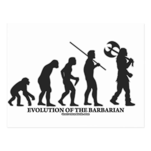 Evolution of the Barbarian Post Card