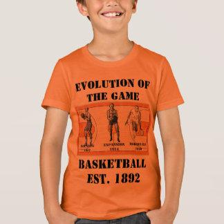 Evolution of the Game--Basketball T-Shirt
